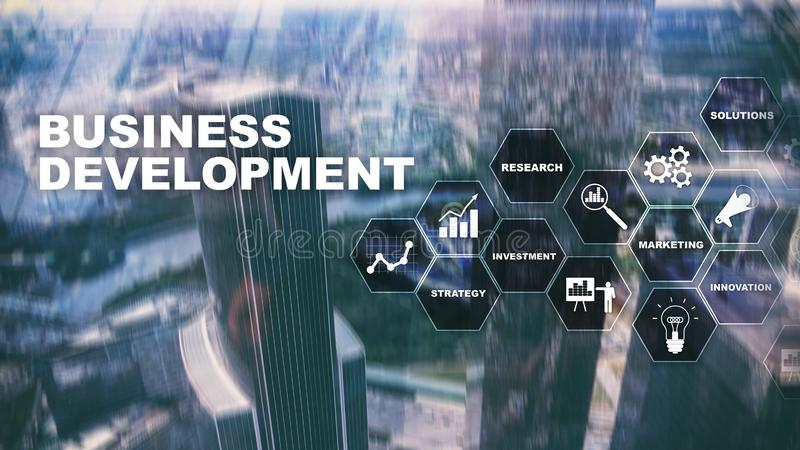 Business Development Startup Growth Statistics. Financial Plan Strategy Development Process Graphic Concept. Business Development Startup Growth Statistics royalty free stock photos