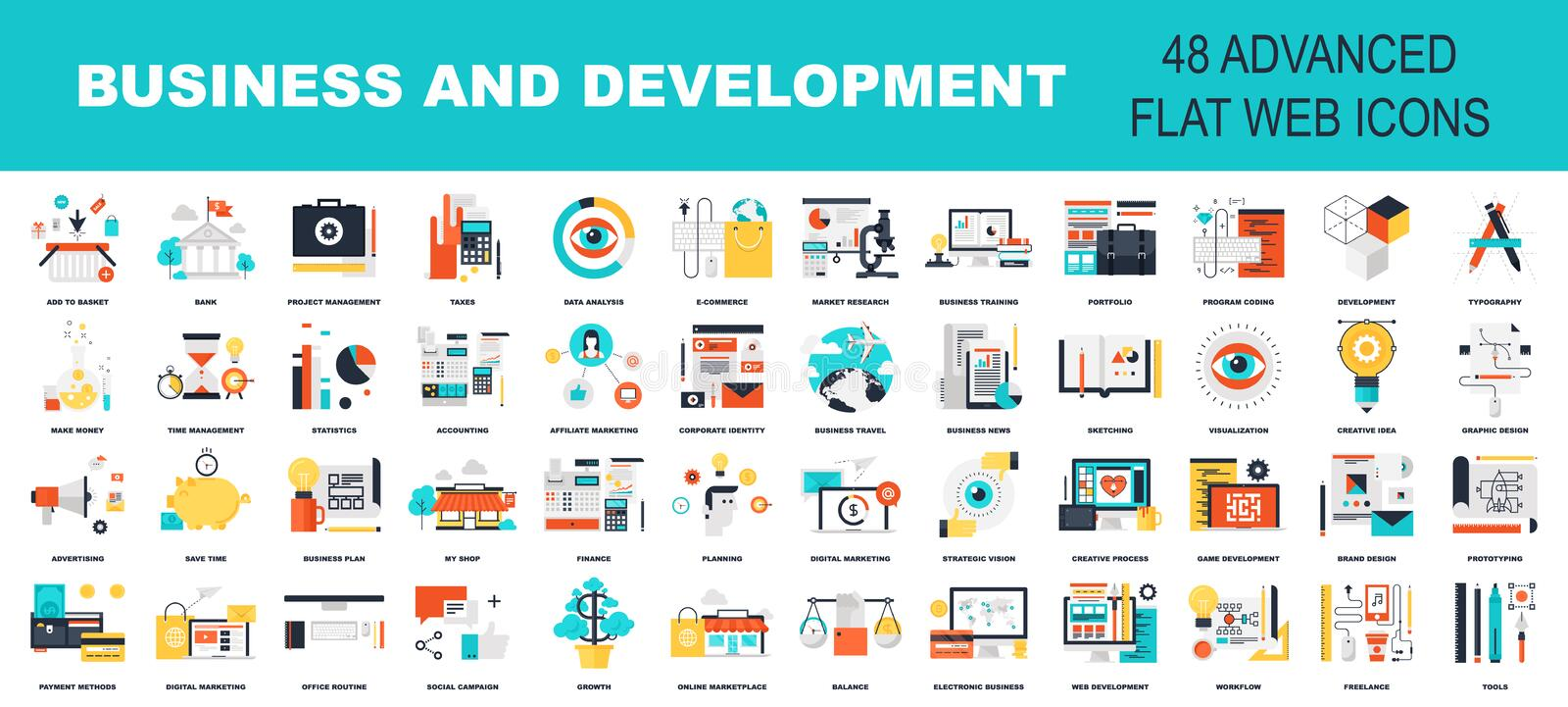 Business and development royalty free illustration