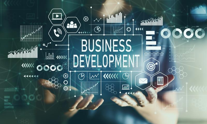 Business development with young man royalty free stock images