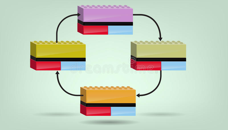 Business Diagram. Made of plastic bricks. It is blank just need to add text stock illustration