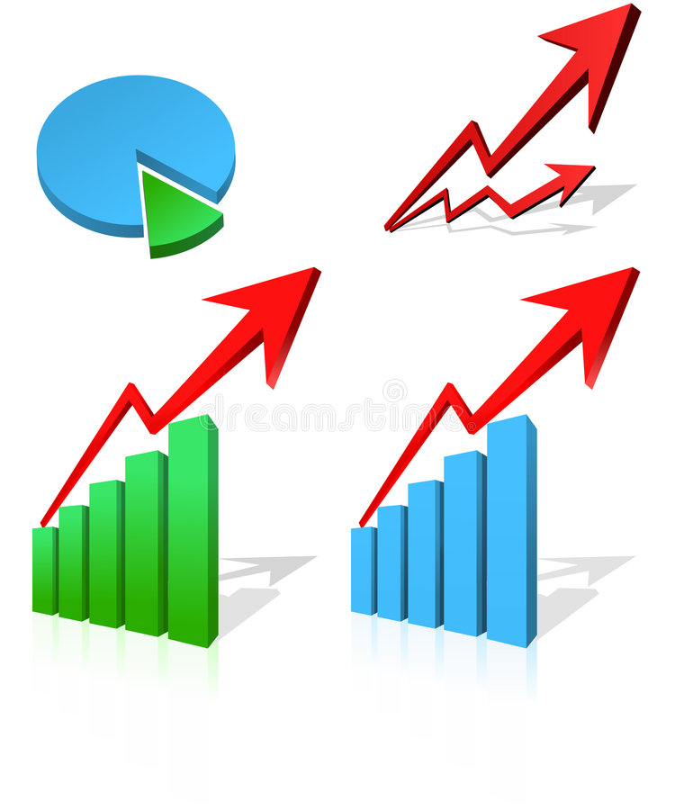 Business Diagram. With arrows and circle chart stock illustration