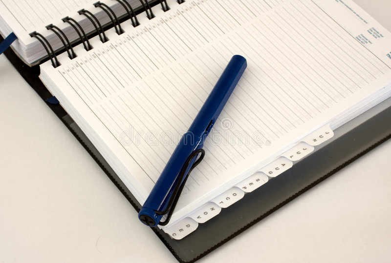 Download Business Diary Organiser With Blue Pen Stock Image - Image of planner, note: 8908349