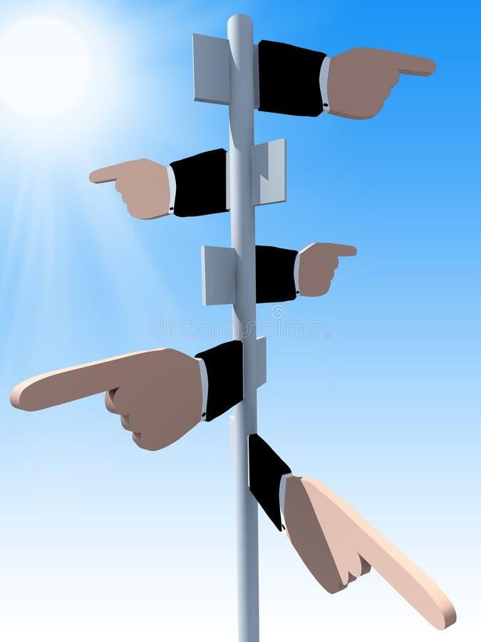 Business direction vector illustration