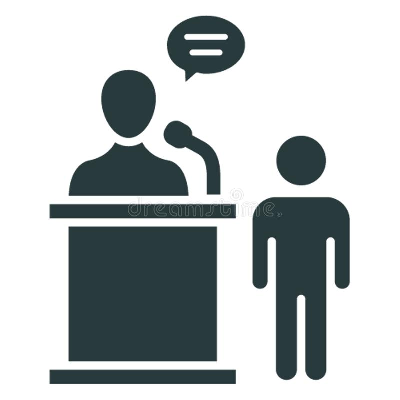 Business discussion, convention .  Vector icon which can easily modify or editable vector illustration