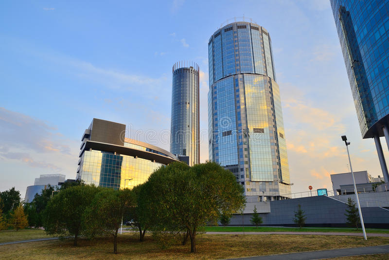 Business district of Ekaterinburg city stock images