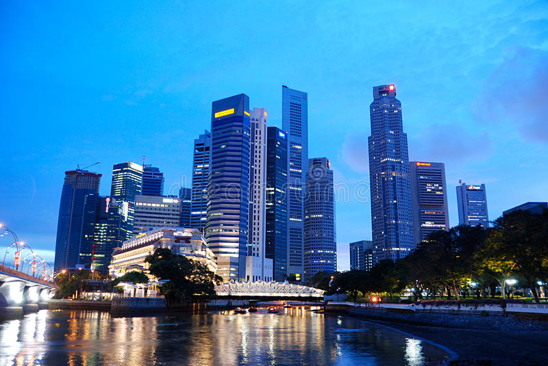Download The Business District, Singapore Editorial Image - Image: 11396490