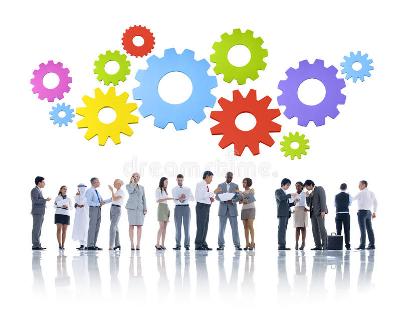 Business. Diverse Business People in Teamwork stock photo