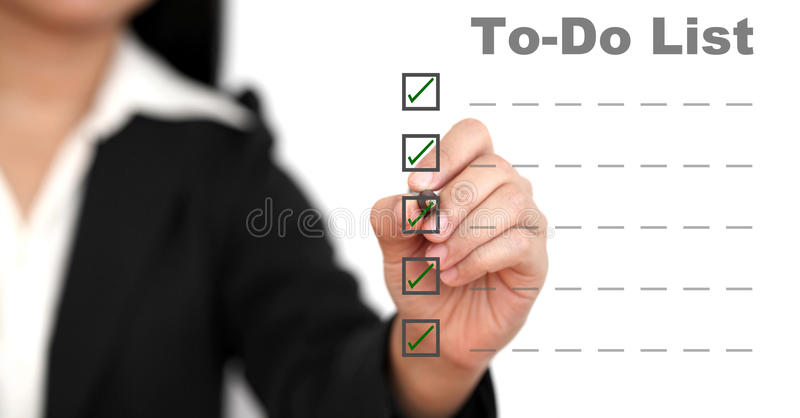 Business doing list royalty free stock photo