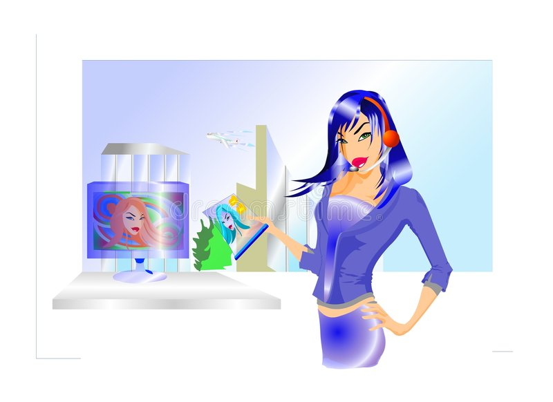 Download Business Doll In The Office Royalty Free Stock Photo - Image: 1087715