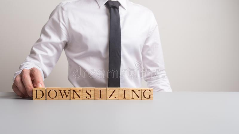 Business downsizing concept stock photo
