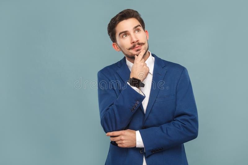 Business dreaming and wondering royalty free stock photos