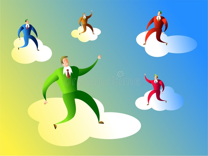 Download Business dreams stock illustration. Illustration of cooperation - 454904