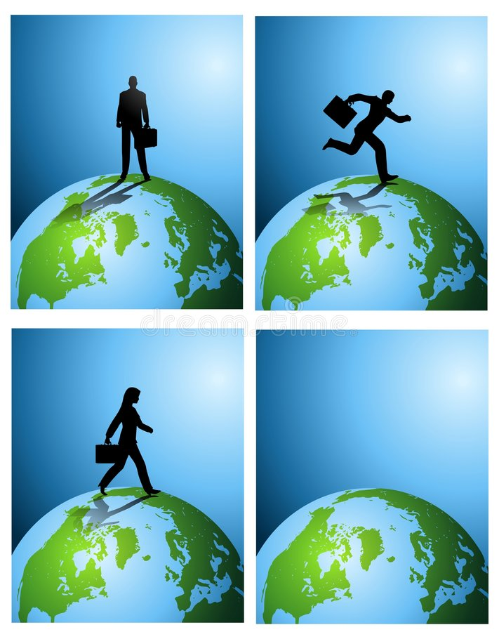 Business Earth Backgrounds stock illustration