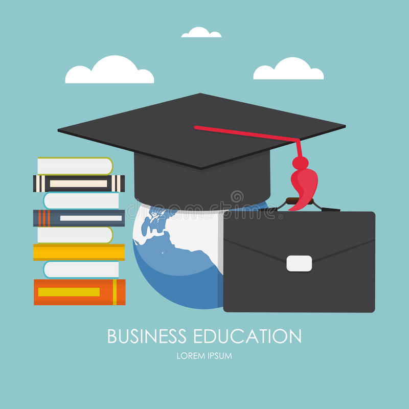 Business Education Concept. Trends and innovation in education. royalty free illustration