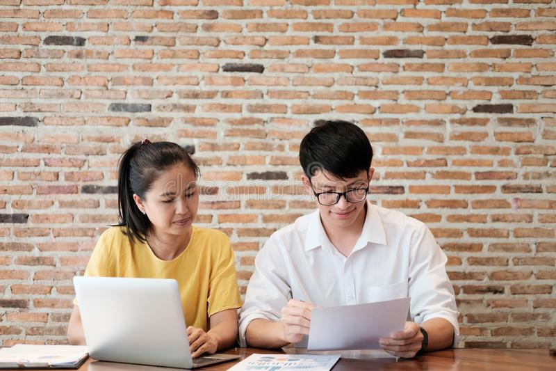 Business Education and teamwork meeting concept. stock photo