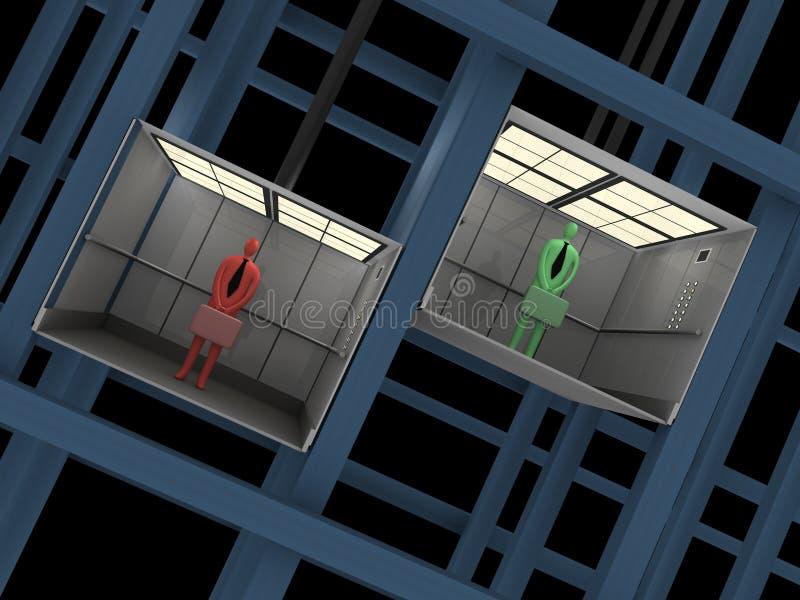 Business - Elevator vector illustration
