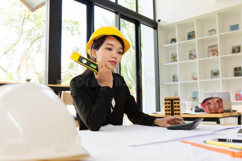 Business engineer working hard. royalty free stock images