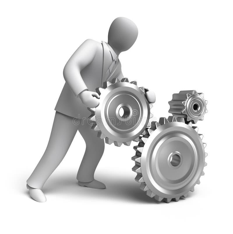 Download Business Engineering In Progress Stock Illustration - Illustration: 19850839