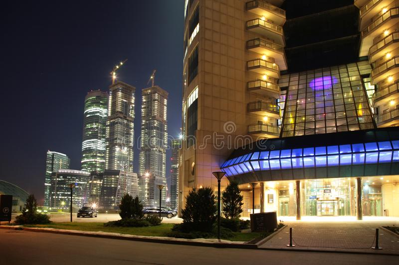 Business enter skyscraper royalty free stock photography