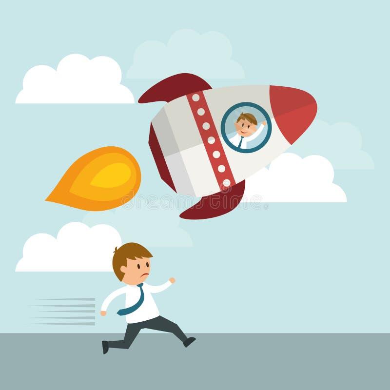 Business entrepreneur. Success concept, Business entrepreneur cartoon design, vector illustration stock illustration