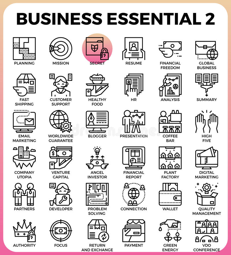 Business Essential icons vector illustration