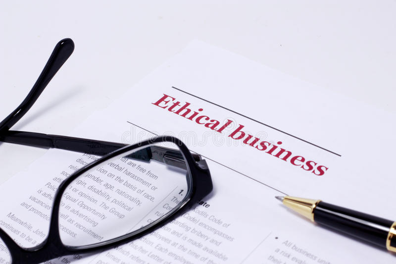 Business Ethics. Picture illustrating ethical business. business ethics and ethics in general royalty free stock photography