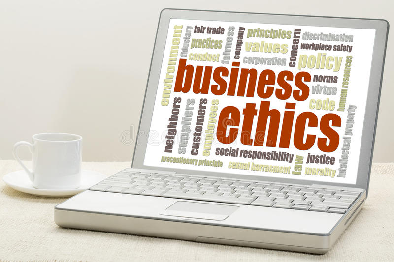Business ethics concept stock image