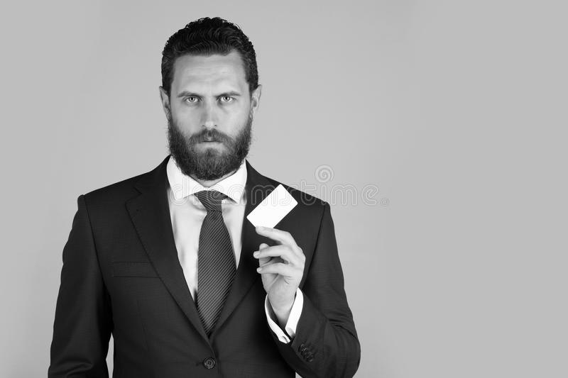 Business ethics. lawyer or man with business or credit card, business ethics stock photography