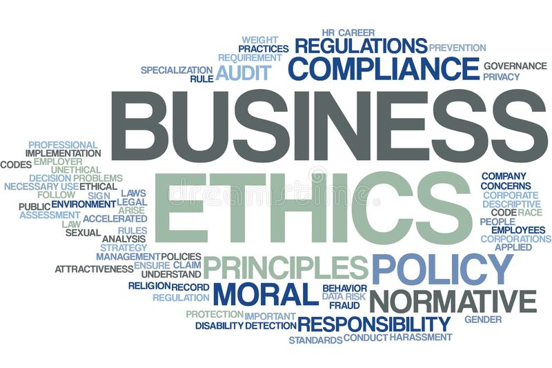Business Ethics word cloud vector illustration