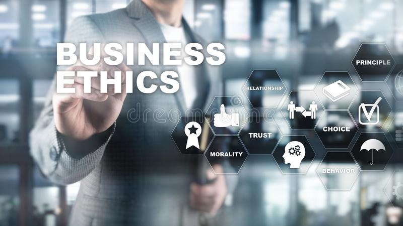 Business Ethnics Philosophy Responsibility Honesty Concept. Mixed media background. royalty free stock photos