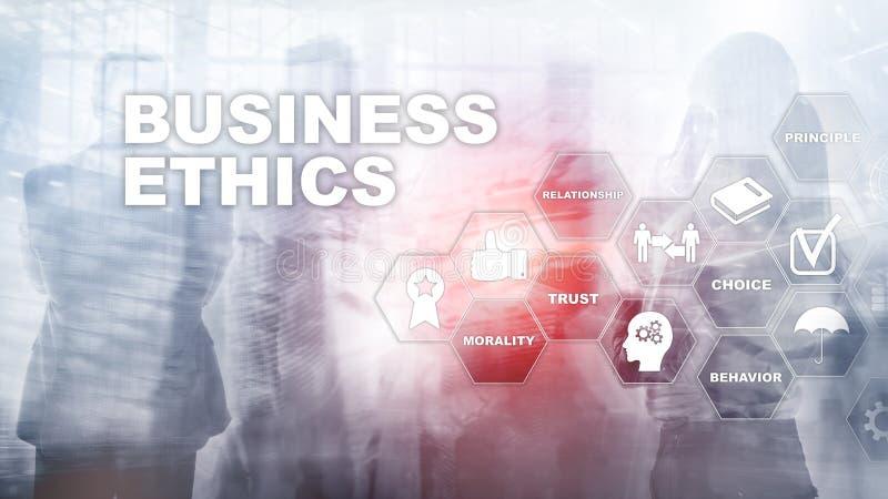 Business Ethnics Philosophy Responsibility Honesty Concept. Mixed media background royalty free illustration