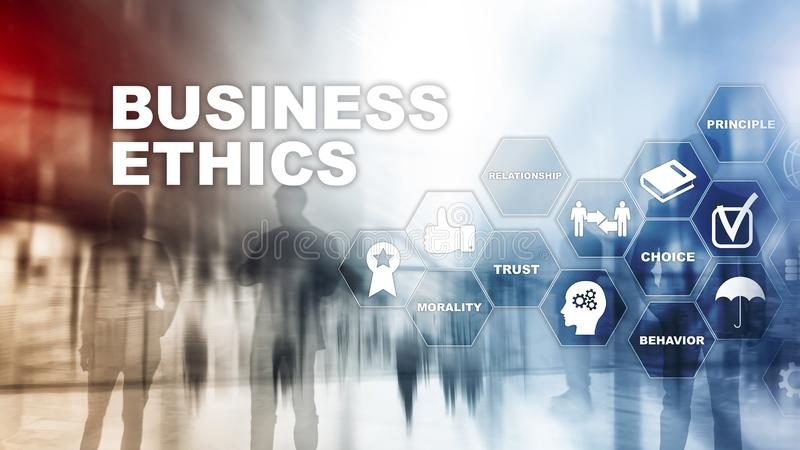 Business Ethnics Philosophy Responsibility Honesty Concept. Mixed media background. stock photography
