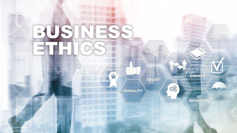 Business Ethnics Philosophy Responsibility Honesty Concept. Mixed media background stock photo