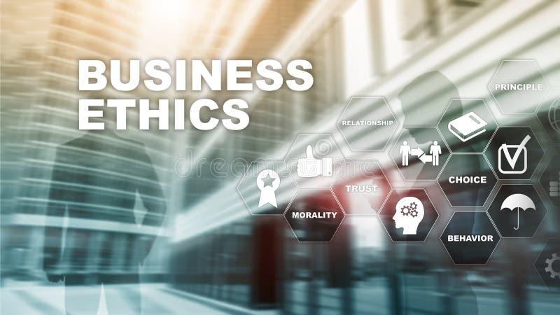 Business Ethnics Philosophy Responsibility Honesty Concept. Mixed media background. royalty free stock photos