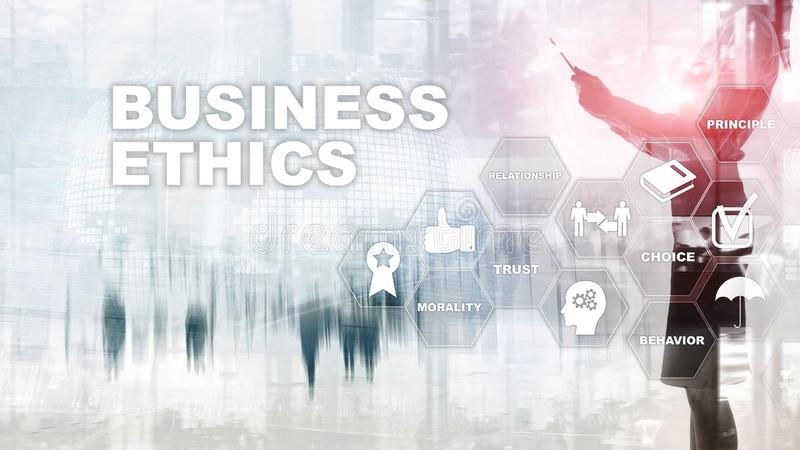 Business Ethnics Philosophy Responsibility Honesty Concept. Mixed media background. royalty free stock photography