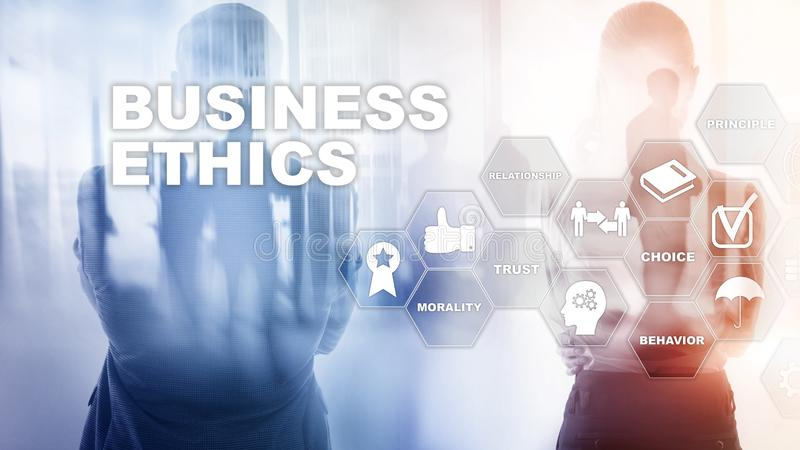 Business Ethnics Philosophy Responsibility Honesty Concept. Mixed media background royalty free stock photography