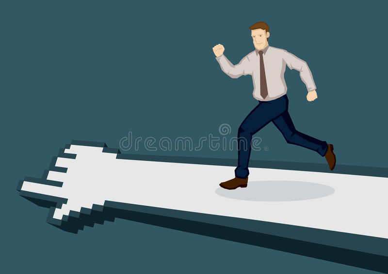 Business Executive Going the IT Way Vector Illustration royalty free illustration