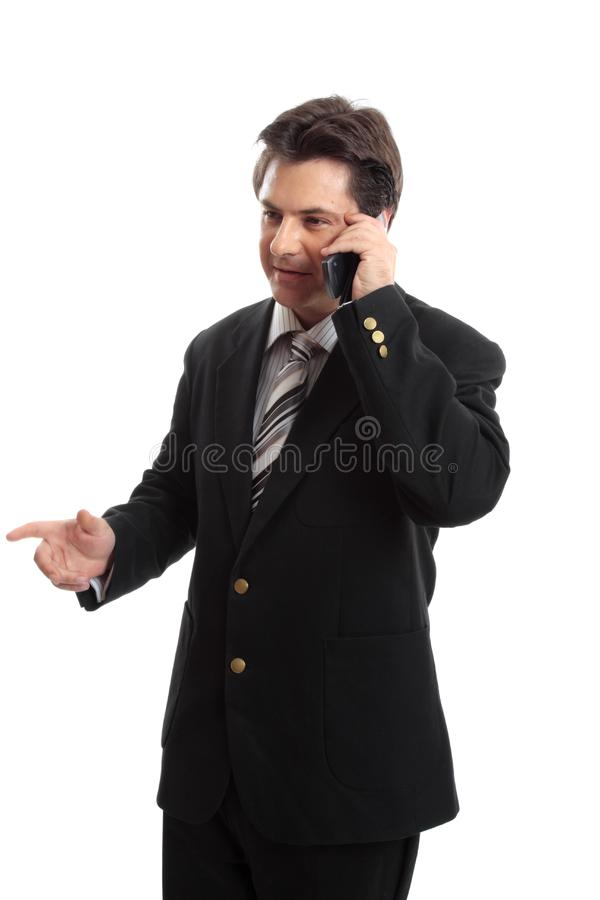 Business executive on the phone stock photography