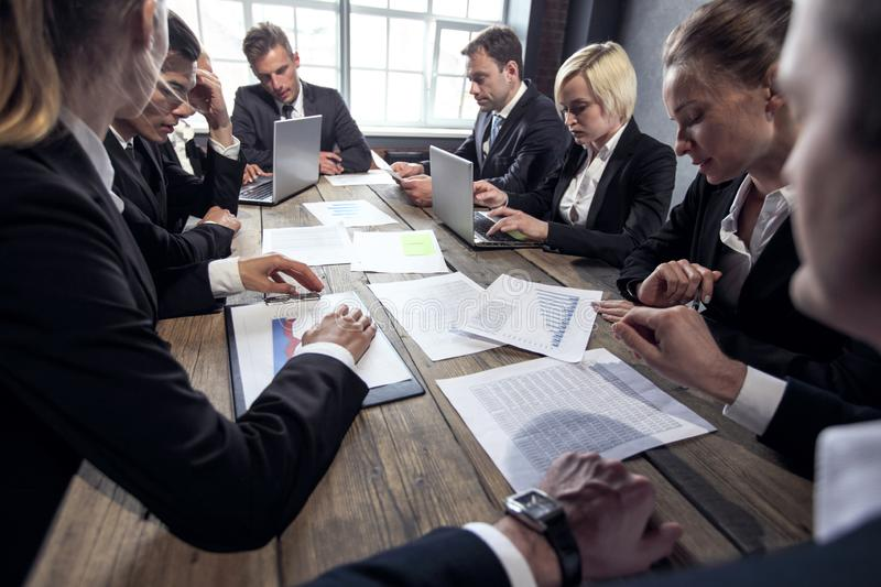 Business executives at meeting royalty free stock photography