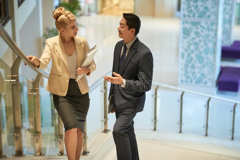 Business executives in office royalty free stock image