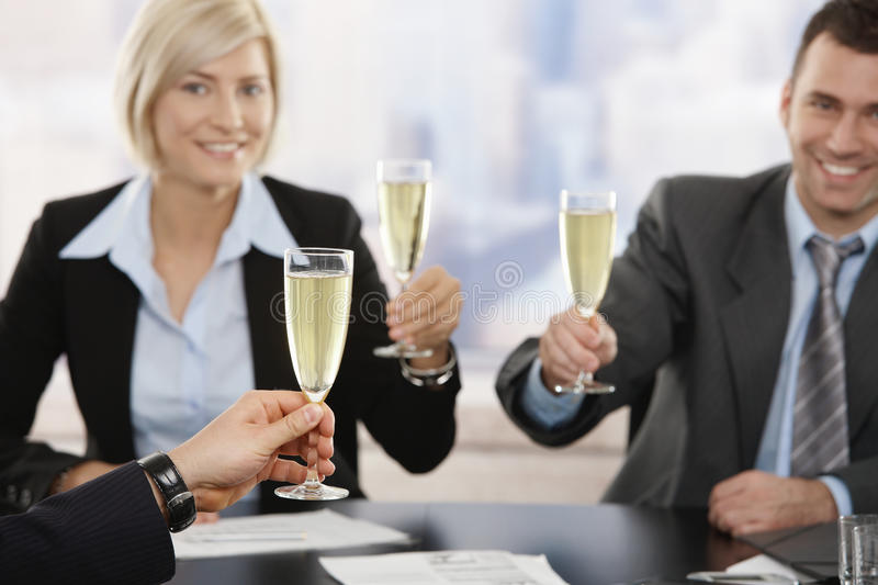 Download Business Executives Raising Toast With Champagne Stock Photo - Image of close, attractive: 11954732