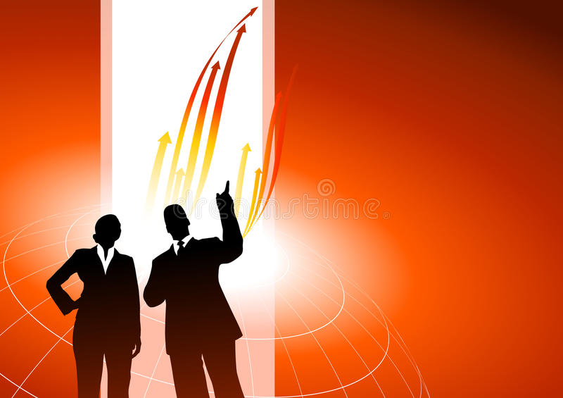 Download Business Executives Or Red Internet Background Stock Vector - Image: 12184092