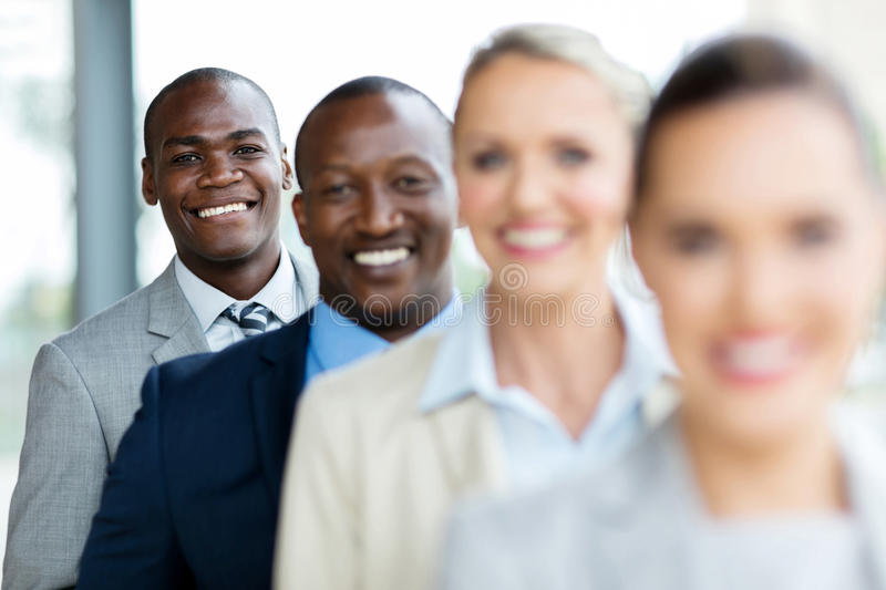 business executives standing row stock images