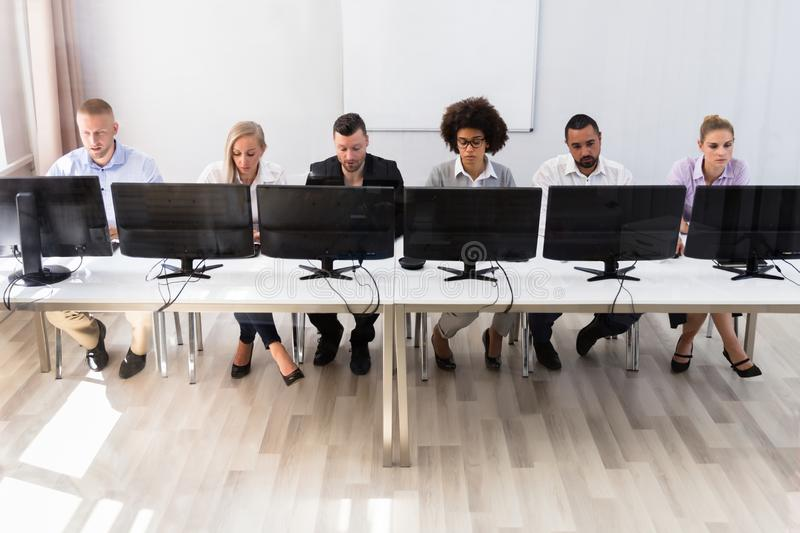 Business Executives Working On Computer stock photo