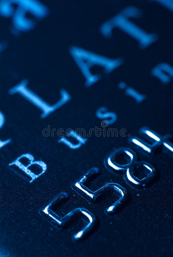 Business expense card. A close up of a business credit card stock photography