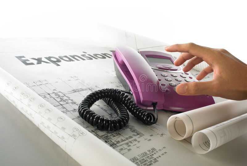 Download Business expension plan stock image. Image of telephones - 3645435