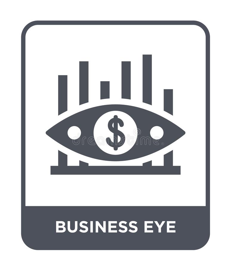 Business eye icon in trendy design style. business eye icon isolated on white background. business eye vector icon simple and. Modern flat symbol for web site royalty free illustration