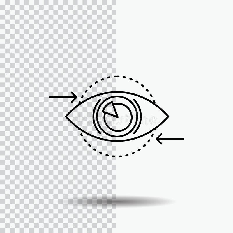 Business, eye, marketing, vision, Plan Line Icon on Transparent Background. Black Icon Vector Illustration royalty free illustration