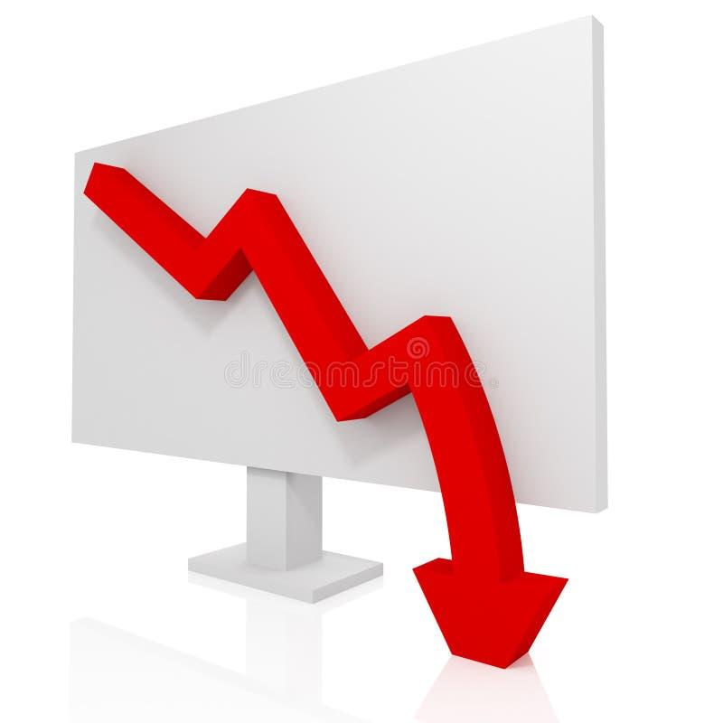 Business failure stock illustration