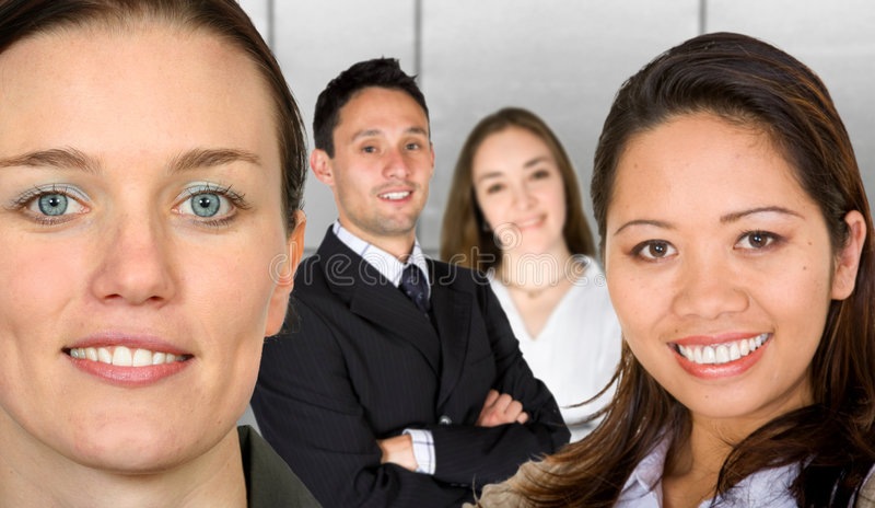 Download Business Female Partners With Their Team Stock Image - Image: 1884605